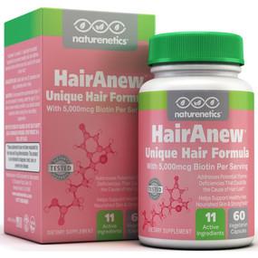 UK Buy HairAnew 60 Caps, Men & Women Hair Loss Vitamins, Naturenetics