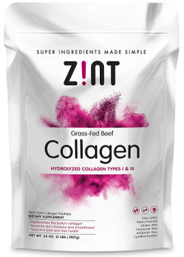 UK Buy Zint Collagen Peptides 32 oz, Premium Hydrolyzed Collagen Protein