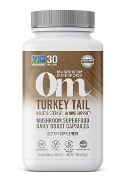 UK Buy Turkey Tail Organic Mushroom, 90 Caps, OM, Immune Defense