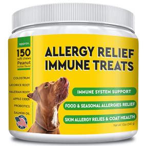 UK Buy Allergy Relief for Dogs, 150 Chews, Immune, Pet Food & Seasonal Allergies