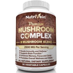 UK Buy Nutrivein Mushroom Complex, 90 Caps, 8 Mushrooms, Immune Support