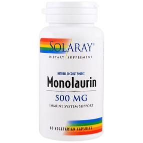 UK Buy Monolaurin, 500 mg, 60 Caps, Solaray