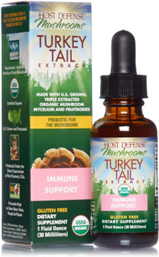 UK Buy Turkey Tail Extract, Host Defense Mushrooms, Immune, 1 oz