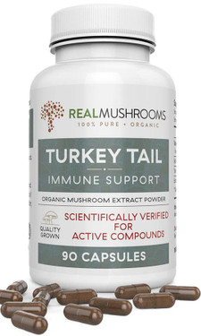 UK Buy Turkey Tail Extract, 90 Caps, Real Mushrooms, Immune Support