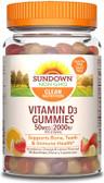 UK Buy Vitamin D3, Strawberry, Orange, 50 mcg (2,000 IU), 90 Gummies, Sundown