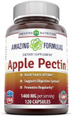 UK Buy Apple Pectin 1400 mg, 120 Caps, Amazing Formulas
