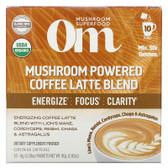 UK Buy Om Mushrooms, Mushroom Coffee Latte Blend, 10 Packets, 0.28 oz each