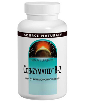 Coenzymated B-2 25 mg 60 Sublingual Source Naturals, FMN , UK