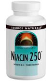 Niacin 250 100 Tabs, Source Naturals, Vitamin B-3