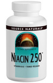 UK Buy Niacin 250, 100 Tabs, Source Naturals, Vitamin B-3