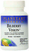 Bilberry Vision 100 mg 120 Tabs, Planetary, Eyes, UK shop