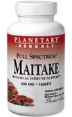 Maitake Full Spectrum 650 mg 60 Tabs, Planetary, Immune