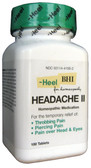 Headache II 100 Tabs Heel BHI, Throbbing Pain, Homeopathic