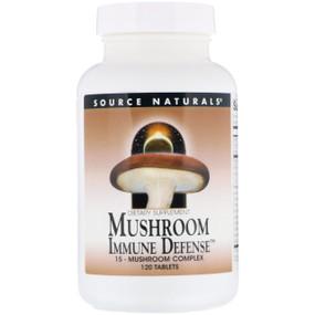 Buy UK Mushroom Immune Defense, 120 Tabs, Source Naturals, Turkey Tail, Reishi
