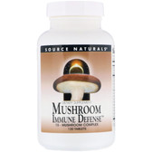Buy UK Mushroom Immune Defense, 120 Tabs, Source Naturals, Turkey Tail, Reishi