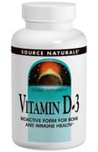 Vitamin D-3 1000 IU 100 Tabs, Source Naturals, Bone and Immune Health