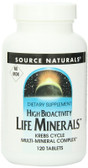 Life Minerals , High Bioactivity No Iron 120 Tabs Source Naturals, UK