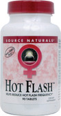 Hot Flash 90 Tabs Source Naturals, Hot Flashes, Menopause, vitamins for hot flashes