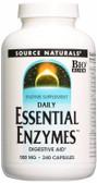 Essential Enzymes 500 mg 240 Caps, Source Naturals, Digestive, UK Shop