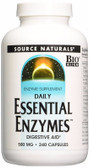 Buy Essential Enzymes 500 mg 240 Caps, Source Naturals, Digestive, UK Shop
