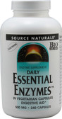 Essential Enzymes 500mg 240 Caps, Source Naturals, UK Shop