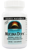 Mucuna Dopa 100 mg 120 Caps Source Naturals, Mood & Performance, UK