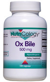 Ox Bile 500mg 100 Caps, Nutricology, Digestion