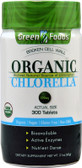 Green Foods Corp Organic Chlorella 200mg 300 Tabs, with Active Enzymes