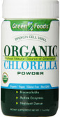 Green Foods Corp Organic Chlorella Powder 2.1 oz, Chlorophyll Source