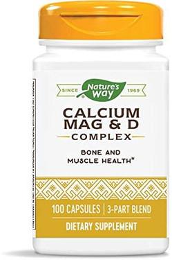 Calcium Magnesium & Vit D 100 Caps, Nature's Way, UK