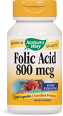 Buy UK Folic Acid 800 mcg 100 Caps, Nature's Way