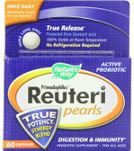Primadophilus Reuteri Pearls 60 ct Nature's Way, Lactobacillus Acidophilus, UK Digestion Supplements