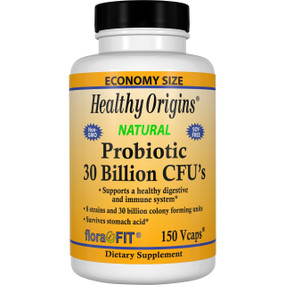 Healthy Origins UK Probiotic 30 Billion CFU's 150 Caps, Digestive Health
