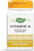 Buy UK Vitamin A 10000IU 100 Softgels, Nature's Way, Vision