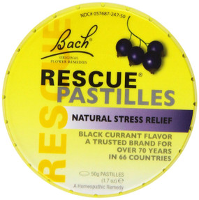 UK Buy Rescue Remedy Pastilles Black Current 50 g, Bach Flower
