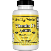 Healthy Origins Vitamin D3 2,400 IU 120 Softgels , Bones, UK Store