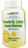 Vitamin D 1000IU Sunny Gummies 50 Chews, Rainbow Light