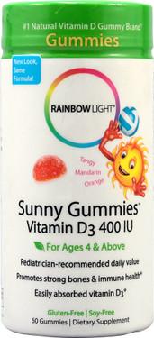 Vitamin D Sunny Gummies 60 Chews, Rainbow Light, UK Shop