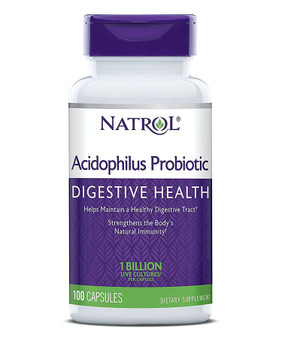 Acidophilus 100 Caps Natrol, Digestive, UK Store