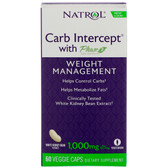 Carb Intercept w/ Phase 2 60 Caps, Natrol, Weight Management, UK Store