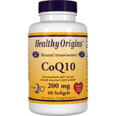 Healthy Origins CoQ10 200 mg 60 Softgels, UK Store