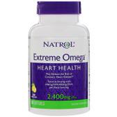 Extreme Omega Lemon, 2,400 mg, 60 Softgels Natrol, UK Store