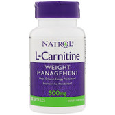 L-Carnitine 500mg 30 Caps, Natrol, UK Store