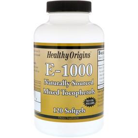 Healthy Origins Vitamin E 1000 IU 120 Softgels, UK