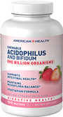 Acidophilus Chewable Strawberry 100 Wafers, American Health, Digestion Supplements UK