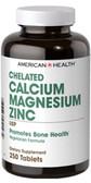 Chelated Calcium & Magnesium w/Zinc 250 Tabs, American Health