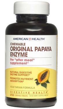Papaya Enzyme Original Chewable 250 Tabs, American Health, Digestive Support UK