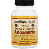 Healthy Origins, Astaxanthin 12mg 60 Softgels, UK shop