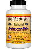 Healthy Origins, Astaxanthin 4mg 60 Softgels, UK Shop