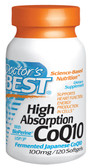 Doctor's Best High Absorption CoQ10, 100 mg 120 Softgels